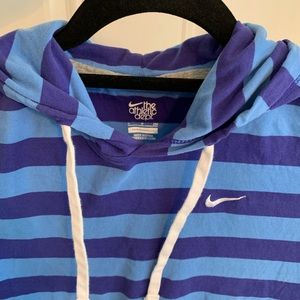 Nike Athletic Dept Striped Hoodie Women's Small